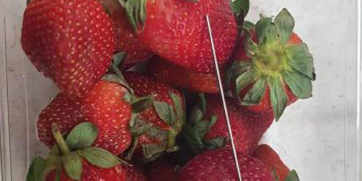 En Australia, alguien está escondiendo agujas dentro de diferentes frutas y el asunto se está poniendo grave