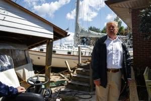 Visita de Donald Trump a los afectados por el Huracán Florence