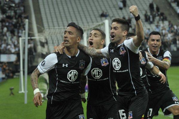 Colo Colo quiere seguir celebrando en la Libertadores / imagen: Agencia UNO