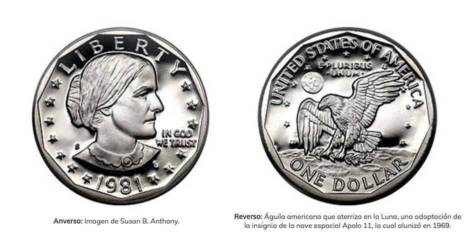 ¿Cómo diferenciar la moneda de un dólar plateada con la de 25 centavos?