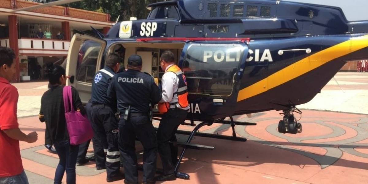 Mujer se accidenta tras escuchar alerta sísmica en simulacro