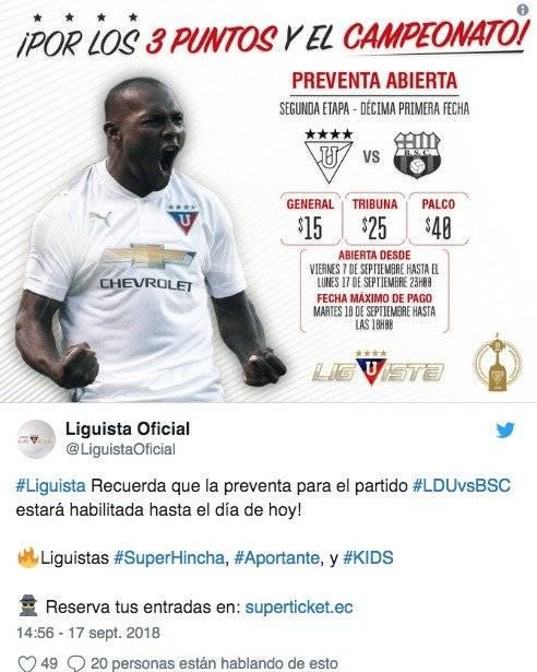 Liga de Quito vs. Barcelona