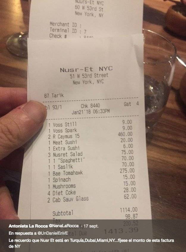 factura restaurante
