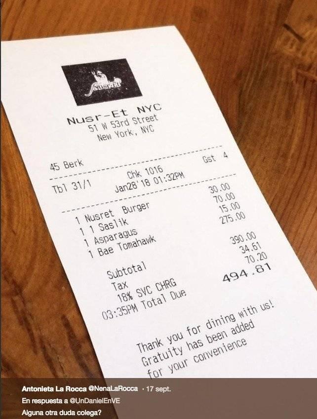 Nusret Dubai Karte.Fotos Cuanto Cuesta Una Cena En El Restaurante Del Chef