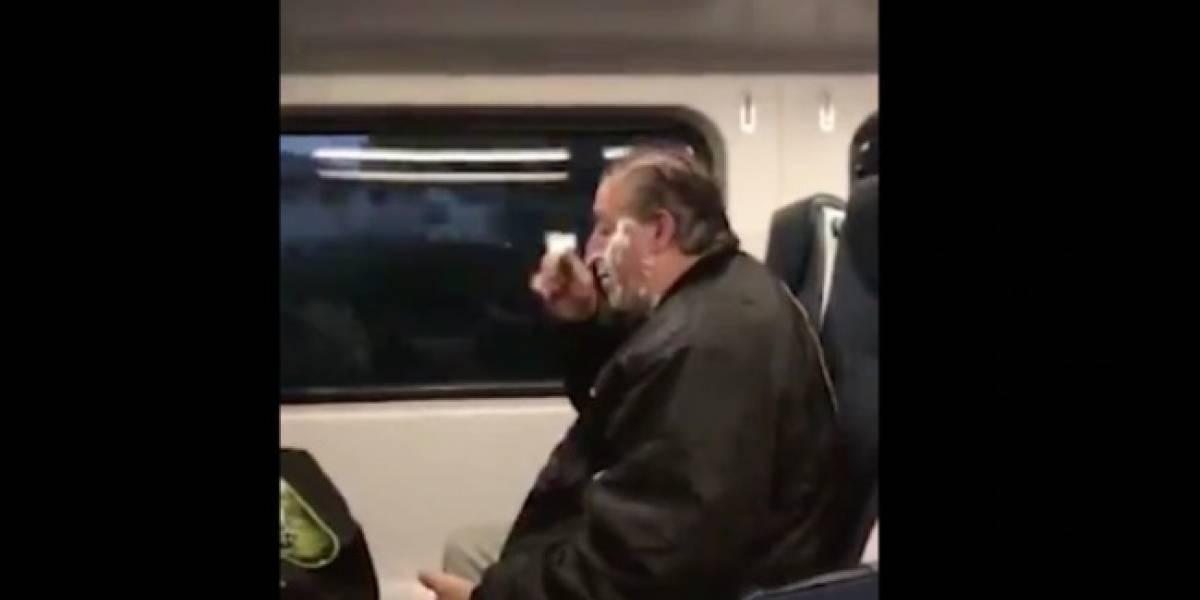 Se burlaron porque se afeitó en tren; no conocían su triste historia