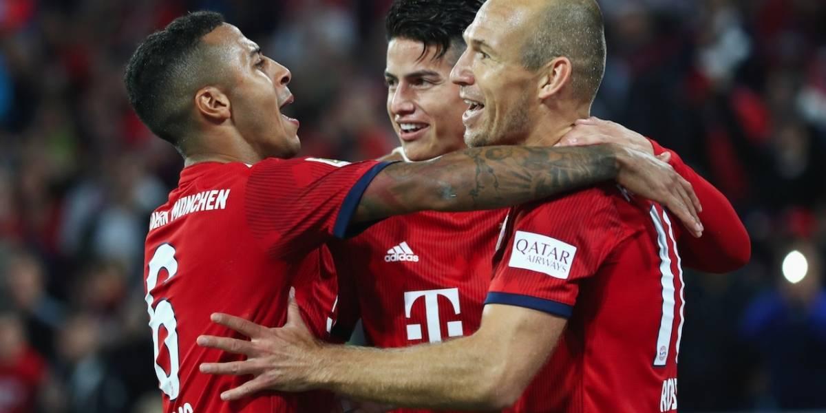 ¿James será titular en el debut europeo del Bayern Múnich contra Benfica?