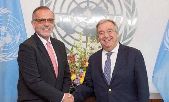 Iván Velásquez junto a Antonio Guterres,secretario general de la ONU. Foto: ONU