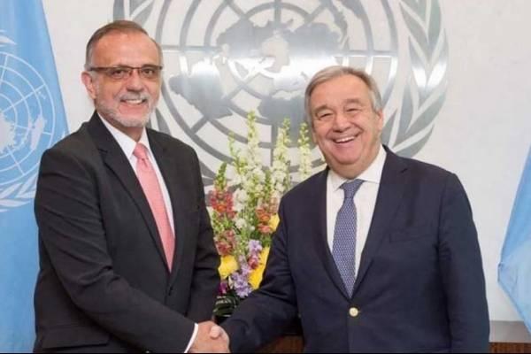 Guterres junto al comisionado de la CICIG, Iván Velásquez