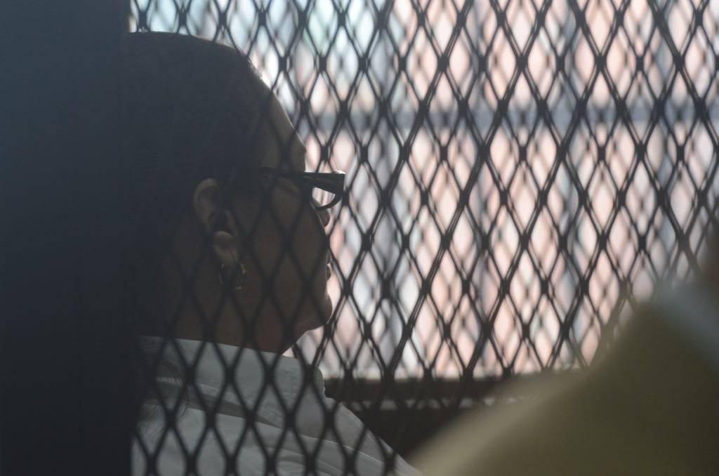 """Exvicepresidenta Roxana Baldetti en juicio por el caso """"Amatitlán"""". Foto: Omar Solís"""