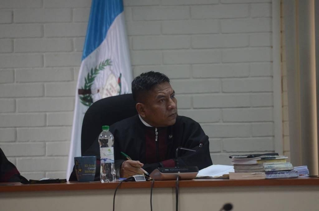 Juez Pablo Xitumul, presidente del Tribunal de Mayor Riesgo C. Foto: Omar Solís