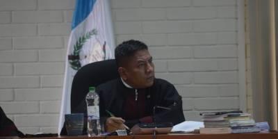 Juez Pablo Xitumul, presidente del Tribunal de Mayor Riesgo C.