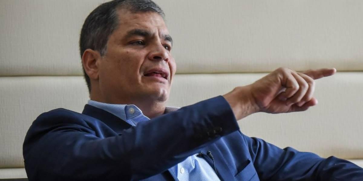 """Rafael Correa aún no ha pedido asilo en Bélgica pero """"estudia"""" la posibilidad"""