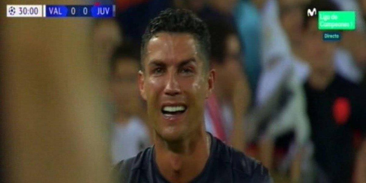 VIDEO. Cristiano Ronaldo es expulsado en su debut con la Juve en la Champions