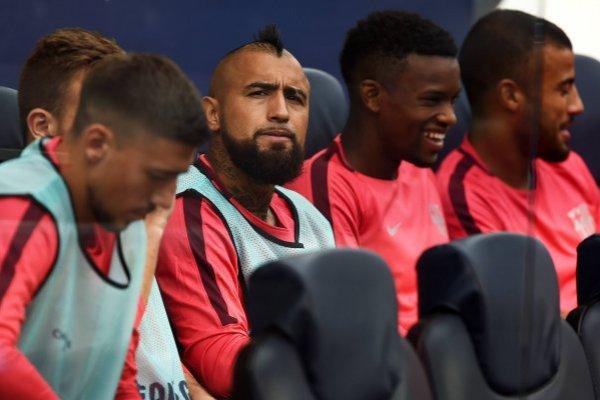 Vidal empezó en el banco y jugó escasos cinco minutos. Fue el único que ingresó / imagen: Getty Images