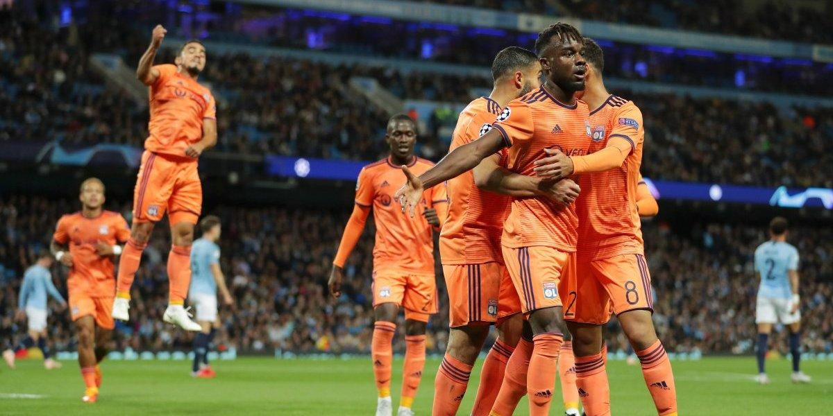 Olympique de Lyon fue hasta Inglaterra para sorprender a Manchester City en Champions