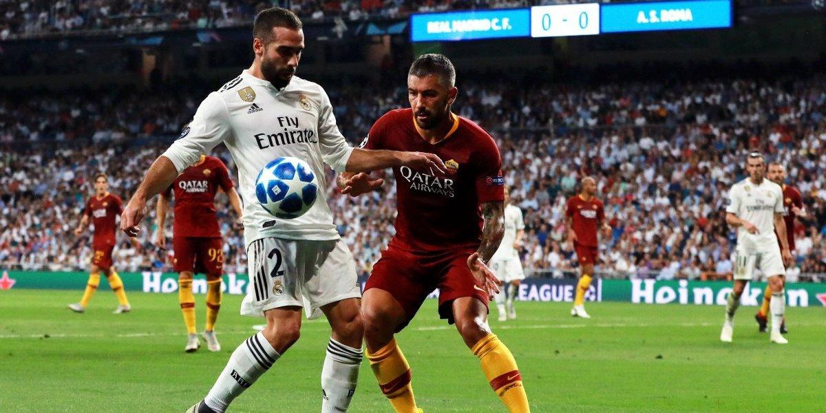 Real Madrid debuta en Champions con goleada sobre la Roma