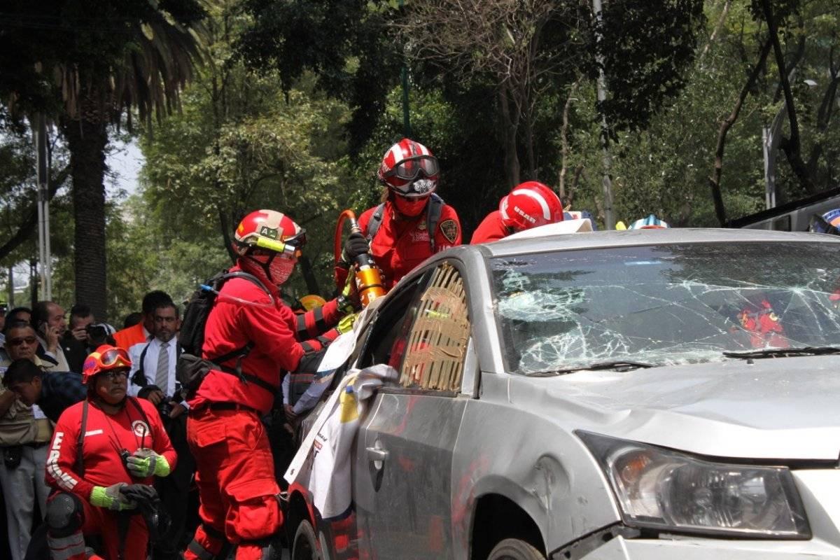 Profesionales atentos en el megasimulacro Foto: Nicolás Corte | Publimetro