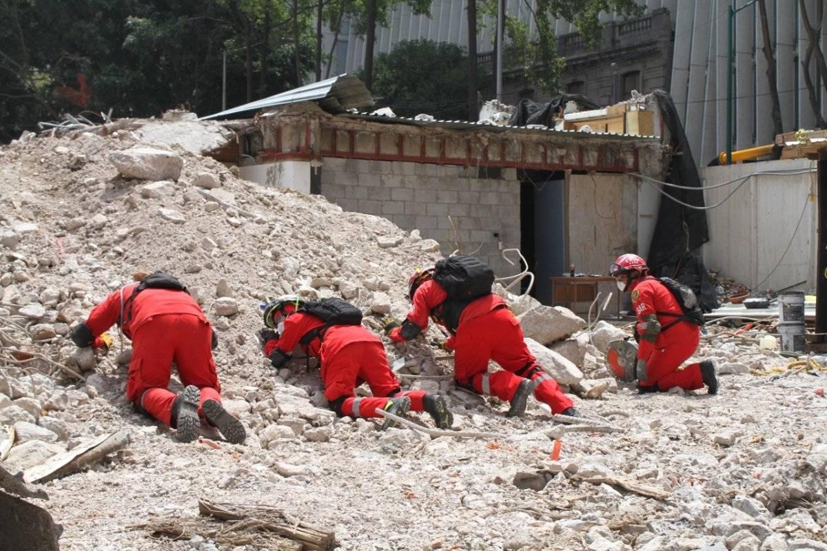 Elementos de Protección Civil siguen protocolo en simulacro Foto: Nicolás Corte | Publimetro
