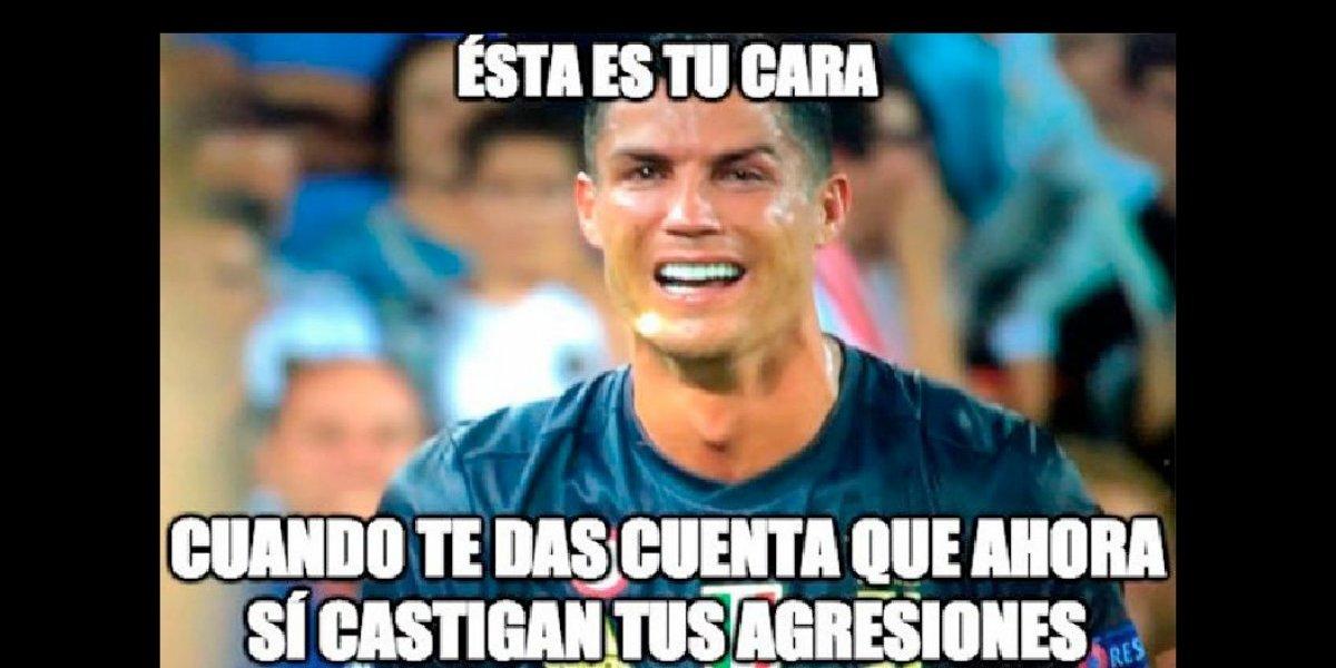 Una ola de memes desató la expulsión de Cristiano Ronaldo en la Champions