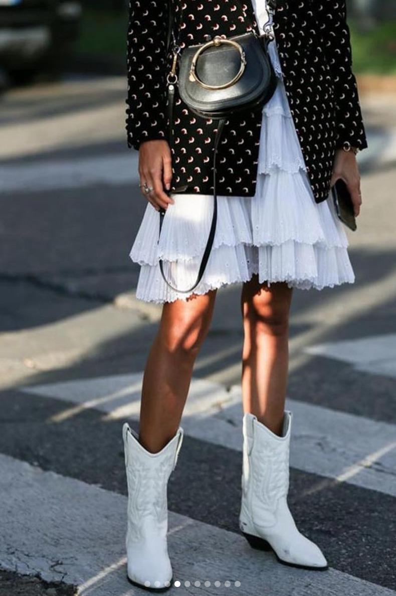 Vestidos con botas vaqueras