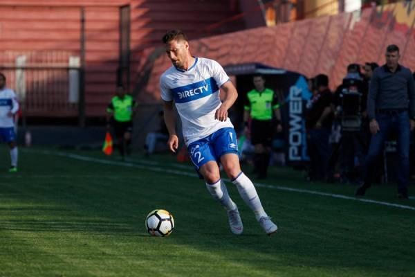 El defensa Germán Lanaro, el cuarto jugador con más minutos en la era Beñat San José, termina contrato con la UC en diciembre / Foto: Agencia UNO