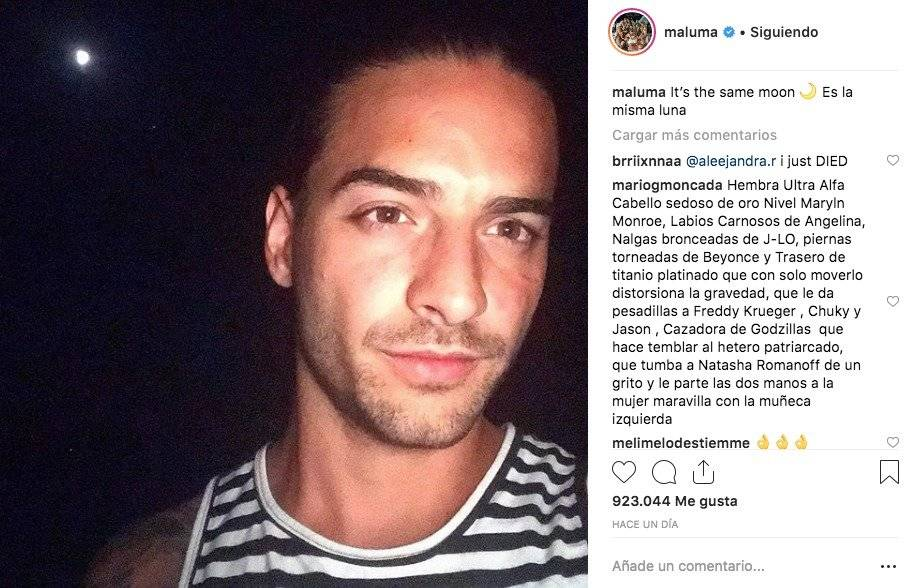 Maluma nuevo look Instagram