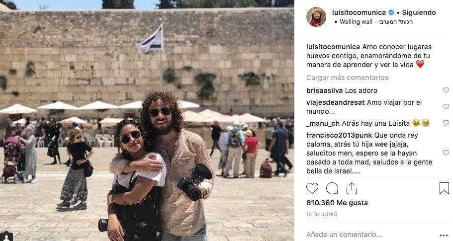 Luisito Comunica y su novia Chule Instagram