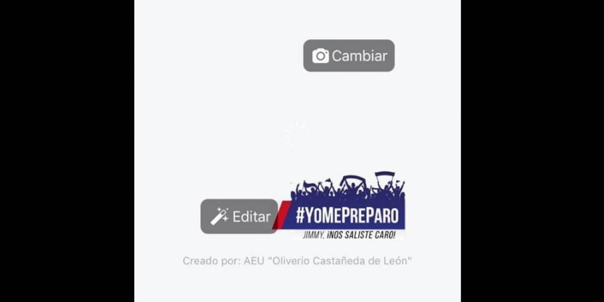AEU crea marco para Facebook en rechazo al presidente Jimmy Morales