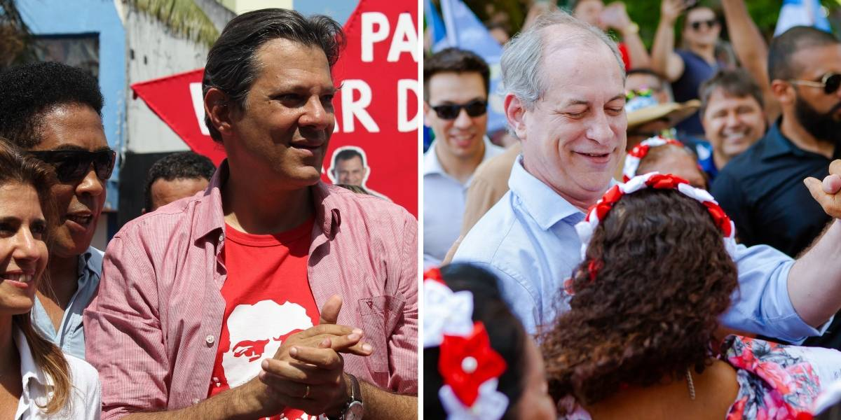 Datafolha: Haddad e Ciro Gomes disputam vaga para o segundo turno