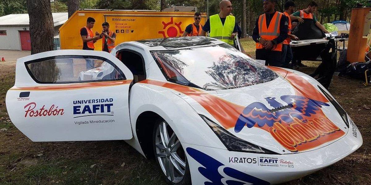 Kratos, el auto electrosolar construido en Medellín que competirá en Bélgica