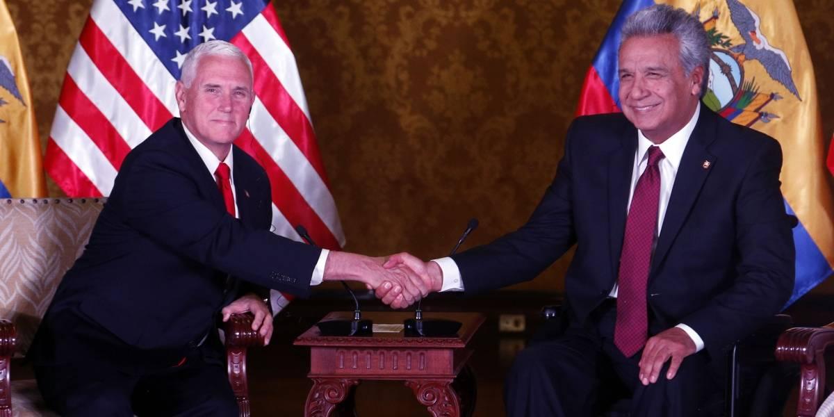 Presidente Lenín Moreno trata con vicepresidente de EE.UU, Mike Pence, cooperación antidroga