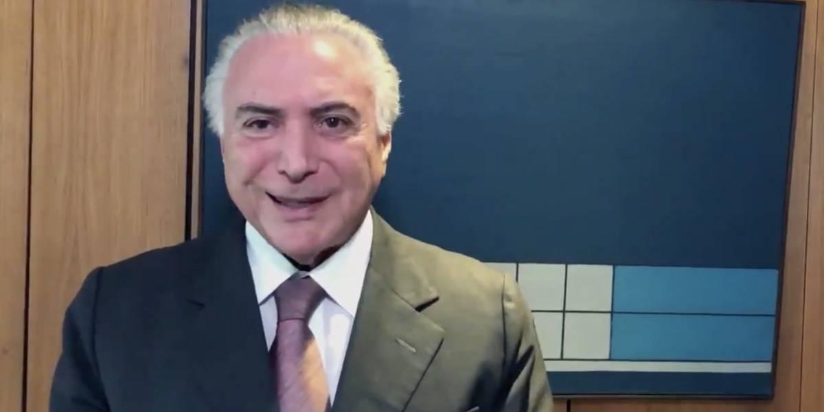 Temer divulga vídeo rebatendo críticas de João Dória ao seu governo
