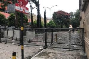 seguridad en Ministerio de Gobernación por manifestación