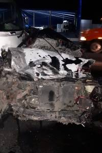 Accidente de tránsito en kilómetro 17 de ruta al Pacífico