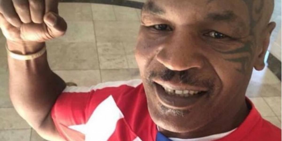 La historia detrás de la foto de Mike Tyson con la camiseta del Junior