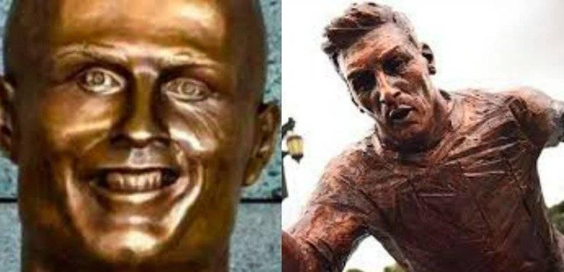 Busto CR7-Estatua Messi