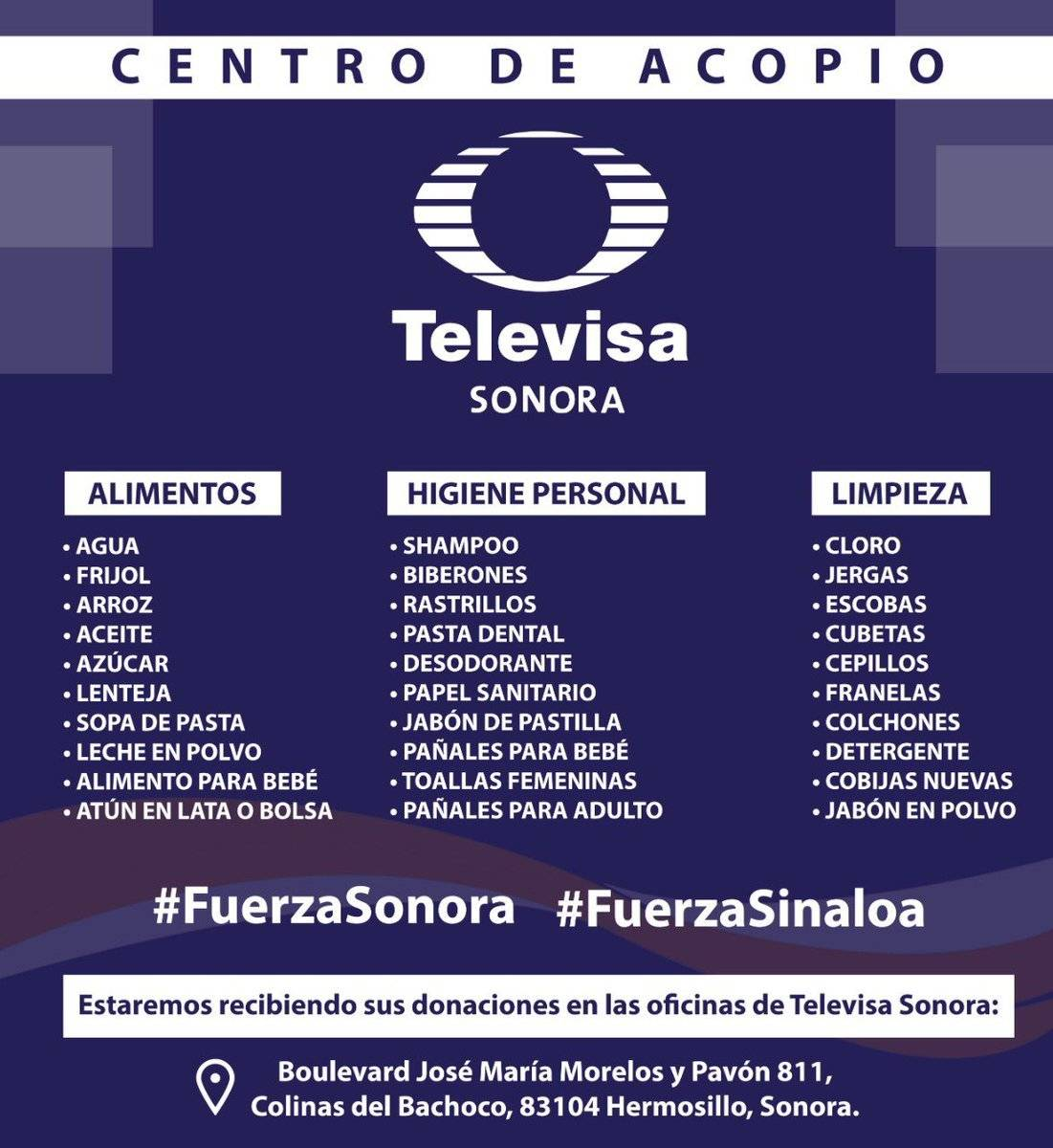 Televisa Sonora Foto: Twitter