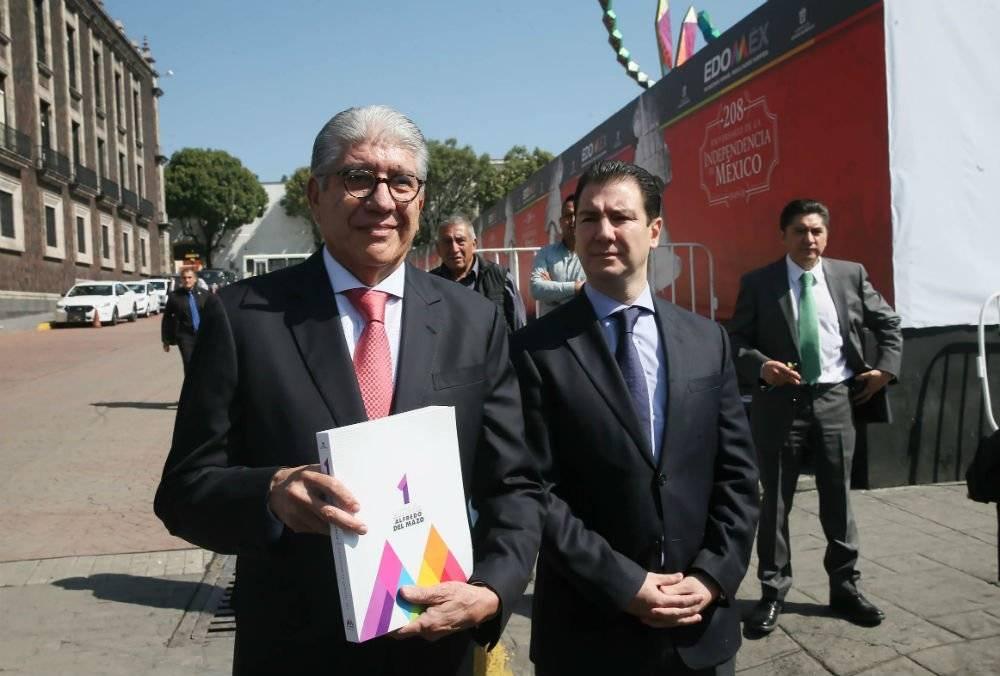 Alejandro Ozuna, entregó el Informe de Gobierno de Alfredo del Mazo al Congreso local Foto: Cortesía