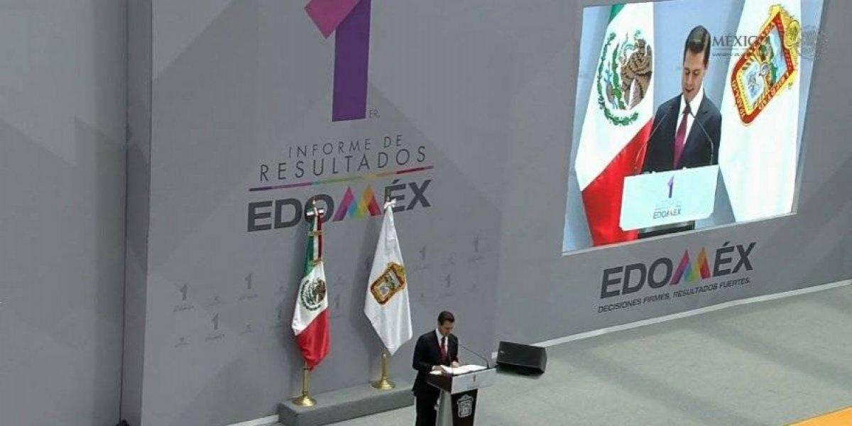 EPN elogia gestión de Alfredo del Mazo en el Estado de México