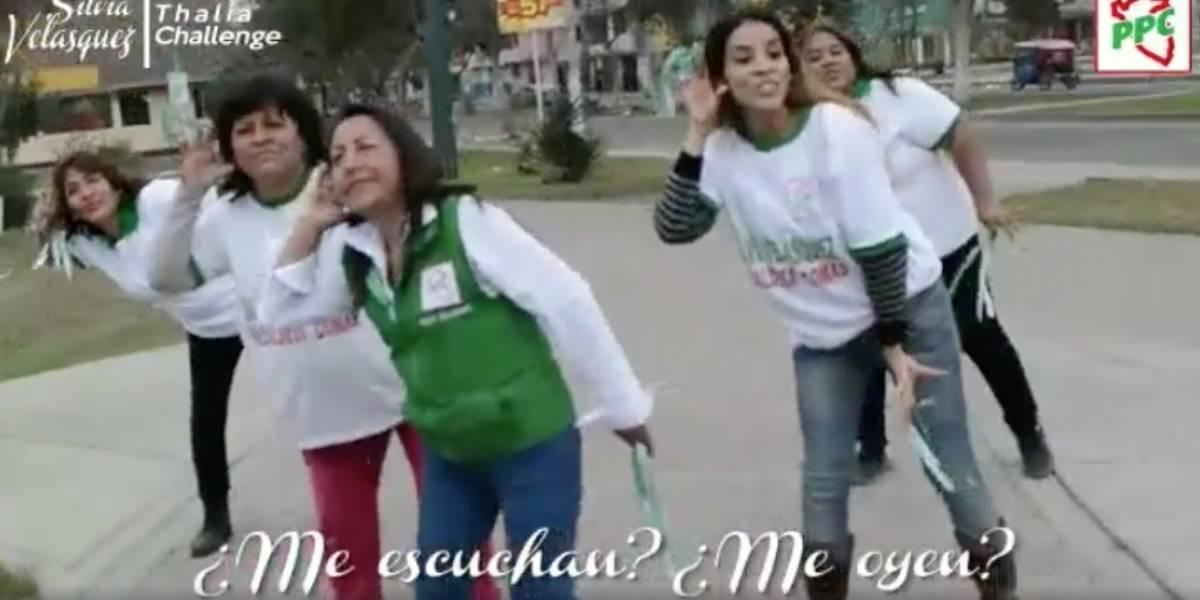 """""""Me oyen mis vecinos"""", candidata a alcaldía se une al #ThalíaChallenge incluyendo sus promesas"""