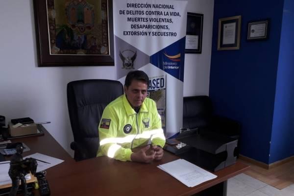 Director de la Dinased, Víctor Arauz,