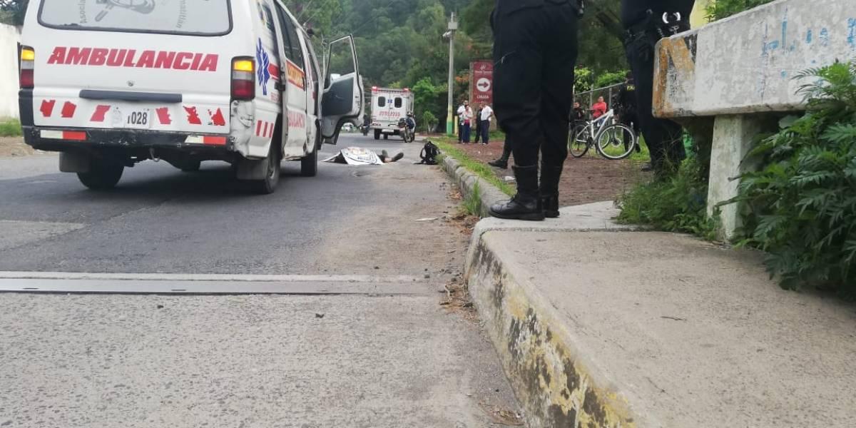 Motoristas protagonizan accidentes de tránsito en el departamento de Guatemala, dos muertos