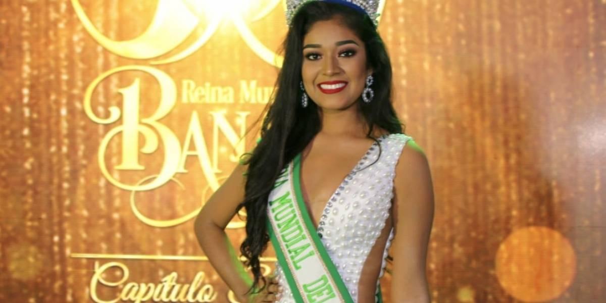 Jhelenny Cristel Tello Sánchez es la nueva Reina Mundial del Banano 2018