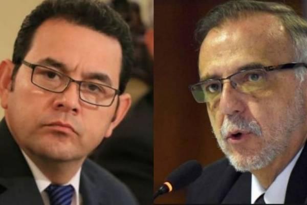 Jimmy Morales e Iván Velásquez