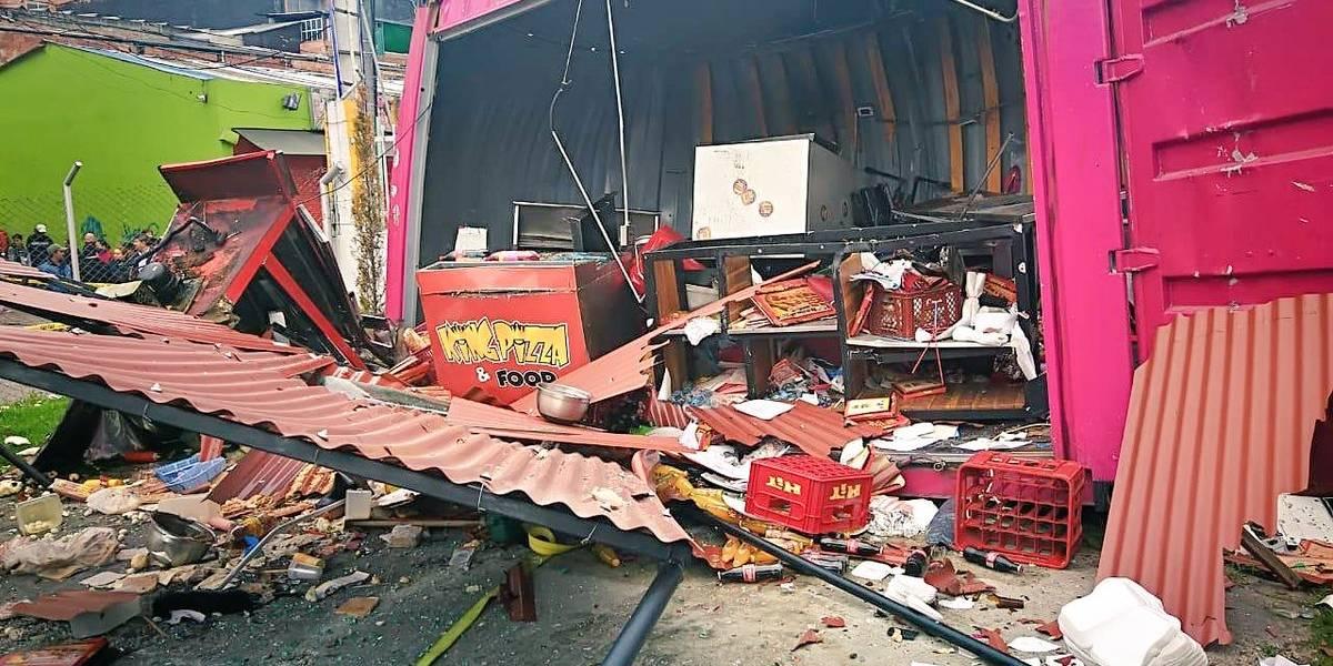 ¡Atención! Grave explosión en Bogotá deja al menos 54 viviendas y 12 vehículos afectados