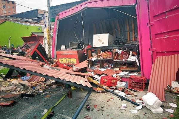 Grave explosión en Bogotá