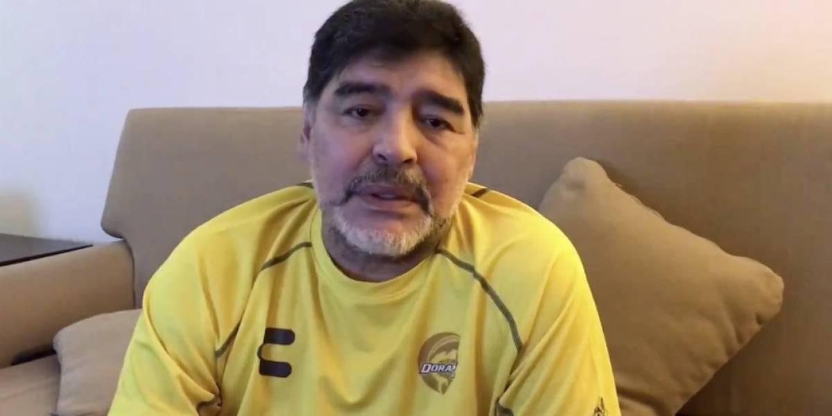 VIDEO: Maradona se solidariza con la gente de Sinaloa
