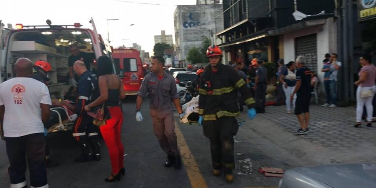 Palco desaba e deixa ao menos 11 feridos durante evento infantil em Santo André