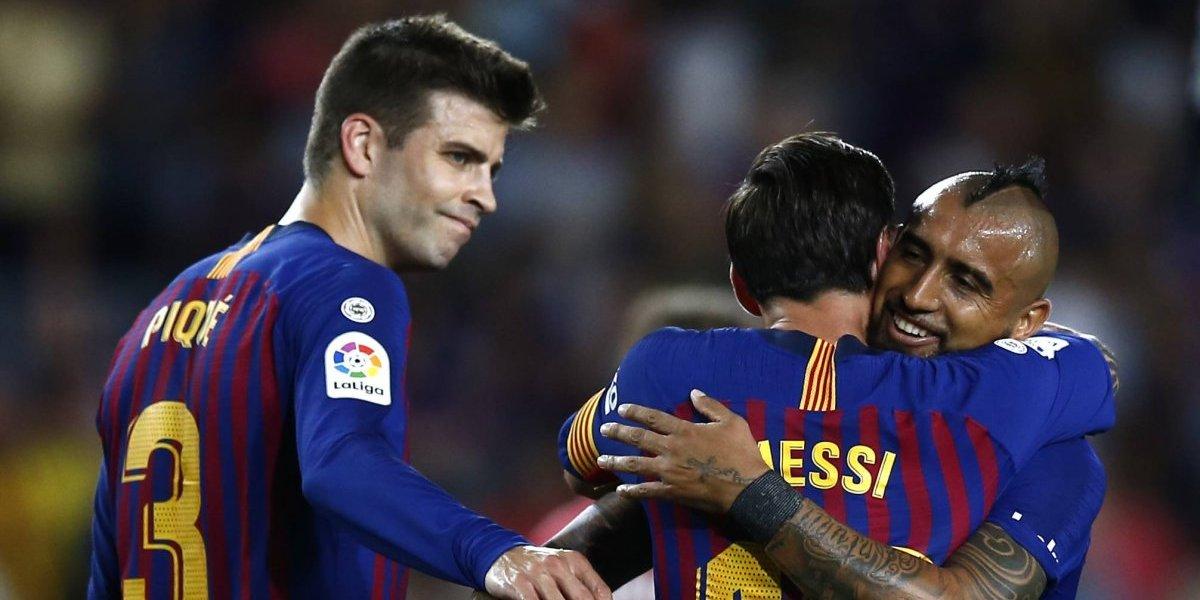 """El """"lúcido"""" Arturo Vidal aprobó en su debut como titular en Barcelona"""