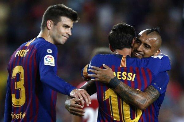 Vidal asistió a Messi / imagen: AP